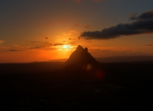 QLD-GlasshouseMountains-Beerwah-Sunset